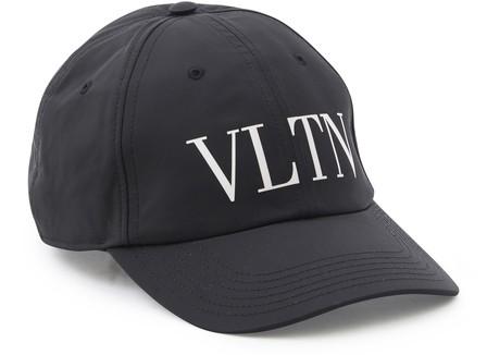 Valentino Logo-Print Twill-Weave Baseball Cap In Nero/Bianco