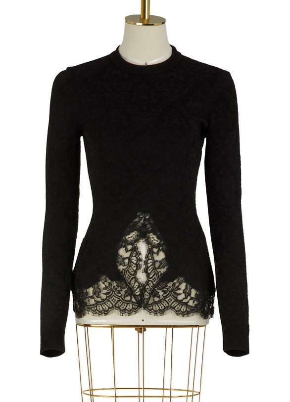 GIVENCHYPullover with lace inserts