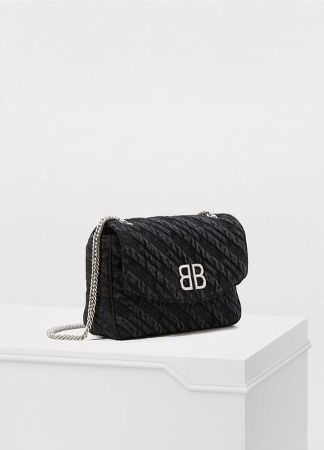 BalenciagaSac porté épaule en denim BB