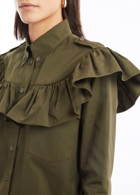 MIU MIURuffled shirt