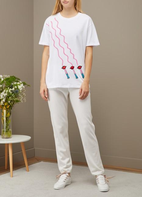 ValentinoLipstick oversized t-shirt