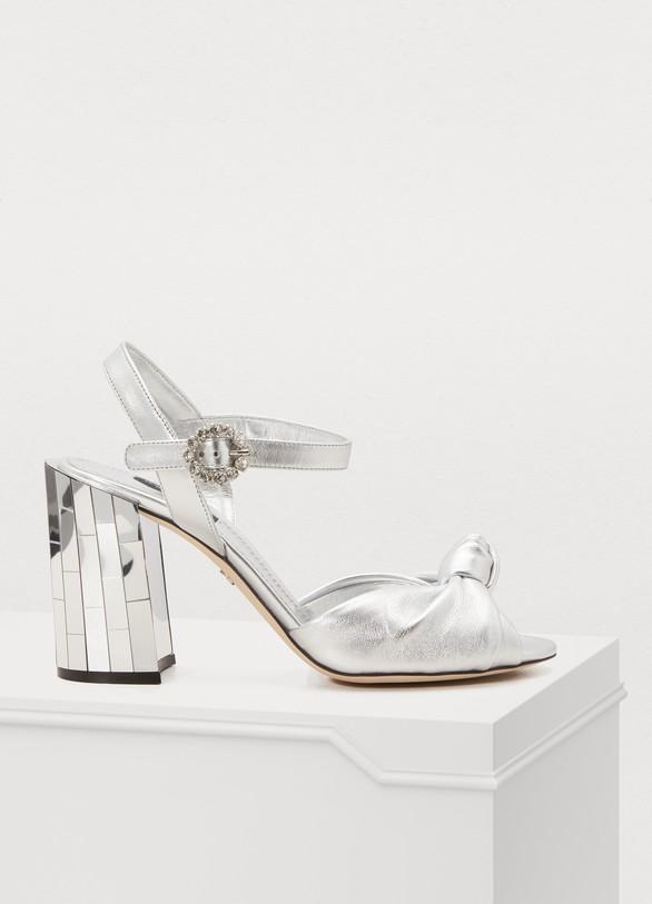 Dolce & GabbanaBronze leather sandals
