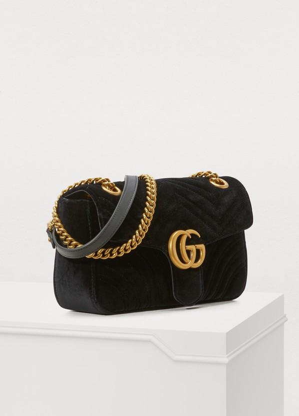 4fefde81955 ... Gucci GG Marmont Velvet Shoulder Bag ...