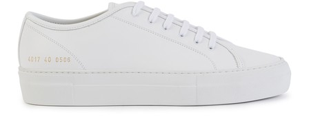 Common Projects White Original Achilles Low Premium Sneakers