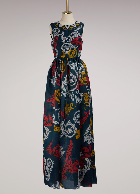 Mary Katrantzou Shaw Silk Sleeveless Gown