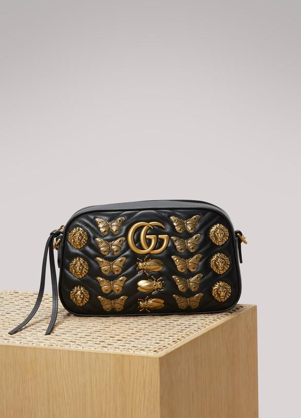 GucciSac à épaule GG Marmont avec clous animaux