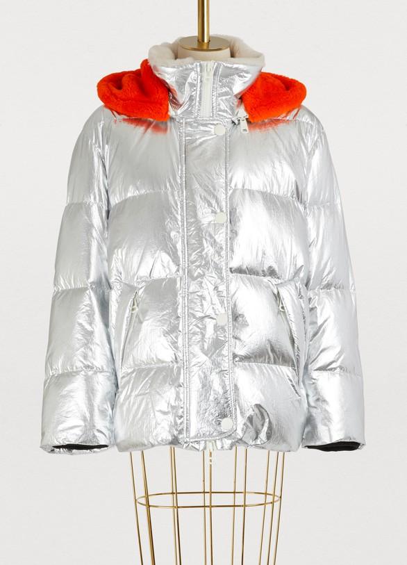 Yves Salomon - ArmyFur-lined ultra-light puffer jacket
