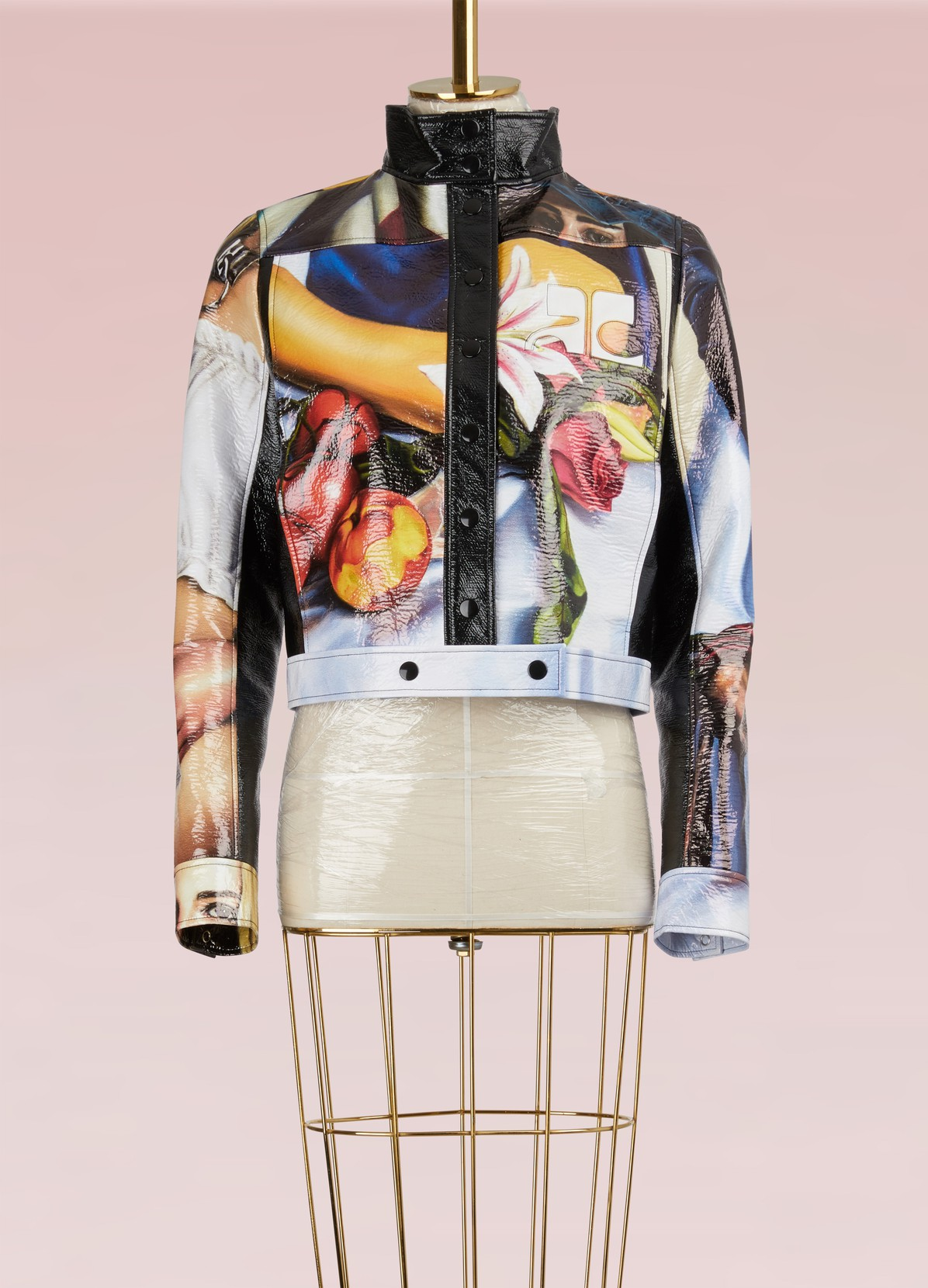 COURREGES Vinyl Printed Jacket
