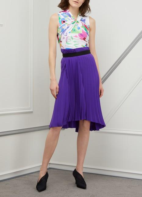 BalenciagaPleated midi skirt