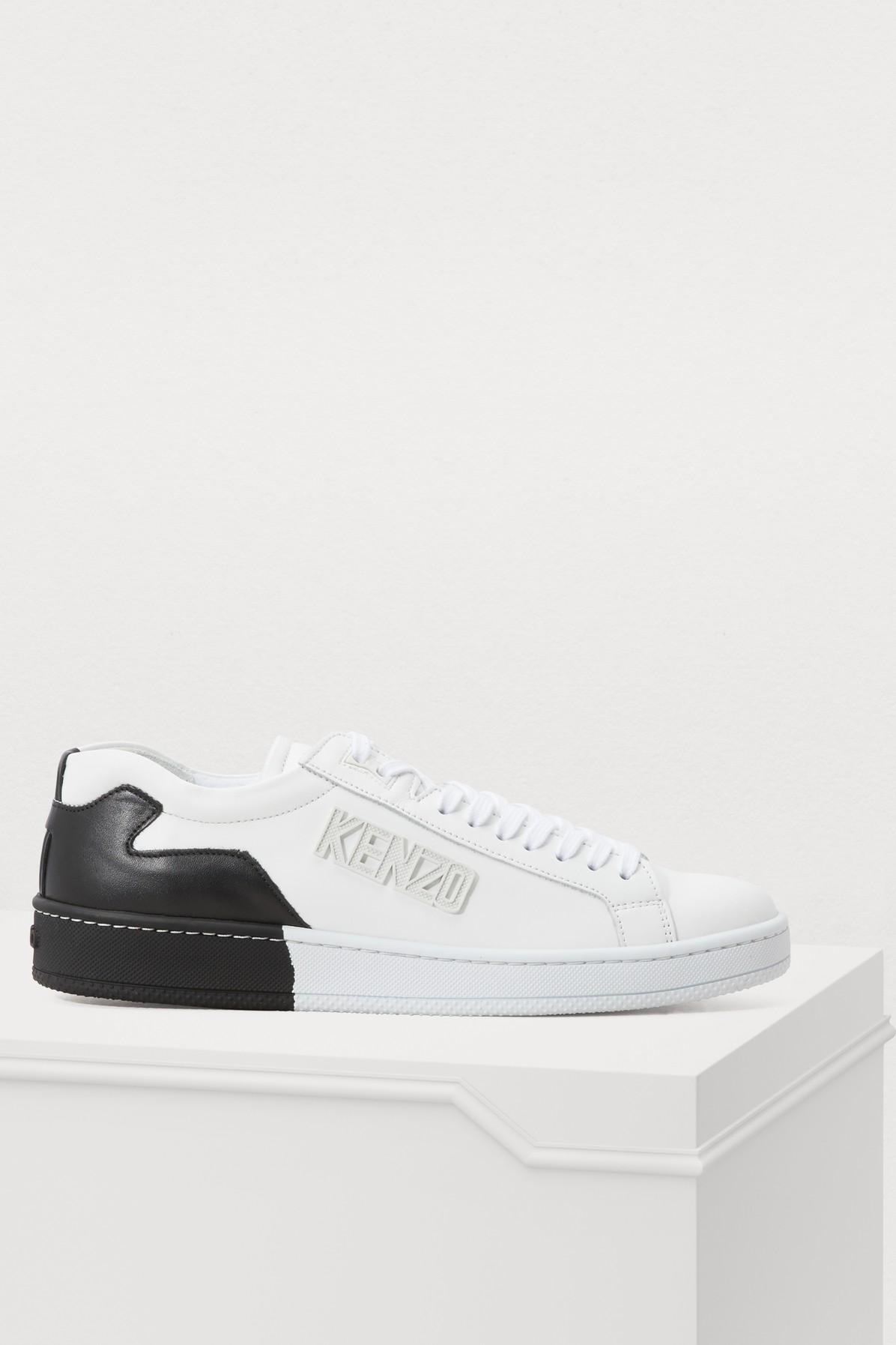KENZO | Leather Tennix sneakers | Goxip