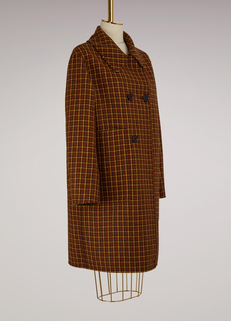 Sofie d'Hoore Reversible plaid wool coat