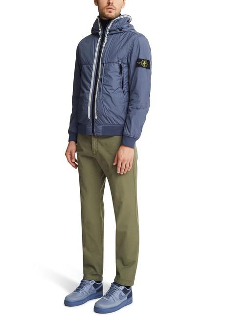 STONE ISLANDHooded zipped coat