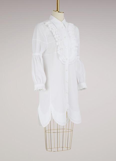 Long sleeves poplin shirt-dress Prada Collections Sale Online Buy Cheap Very Cheap gvKmHPBi