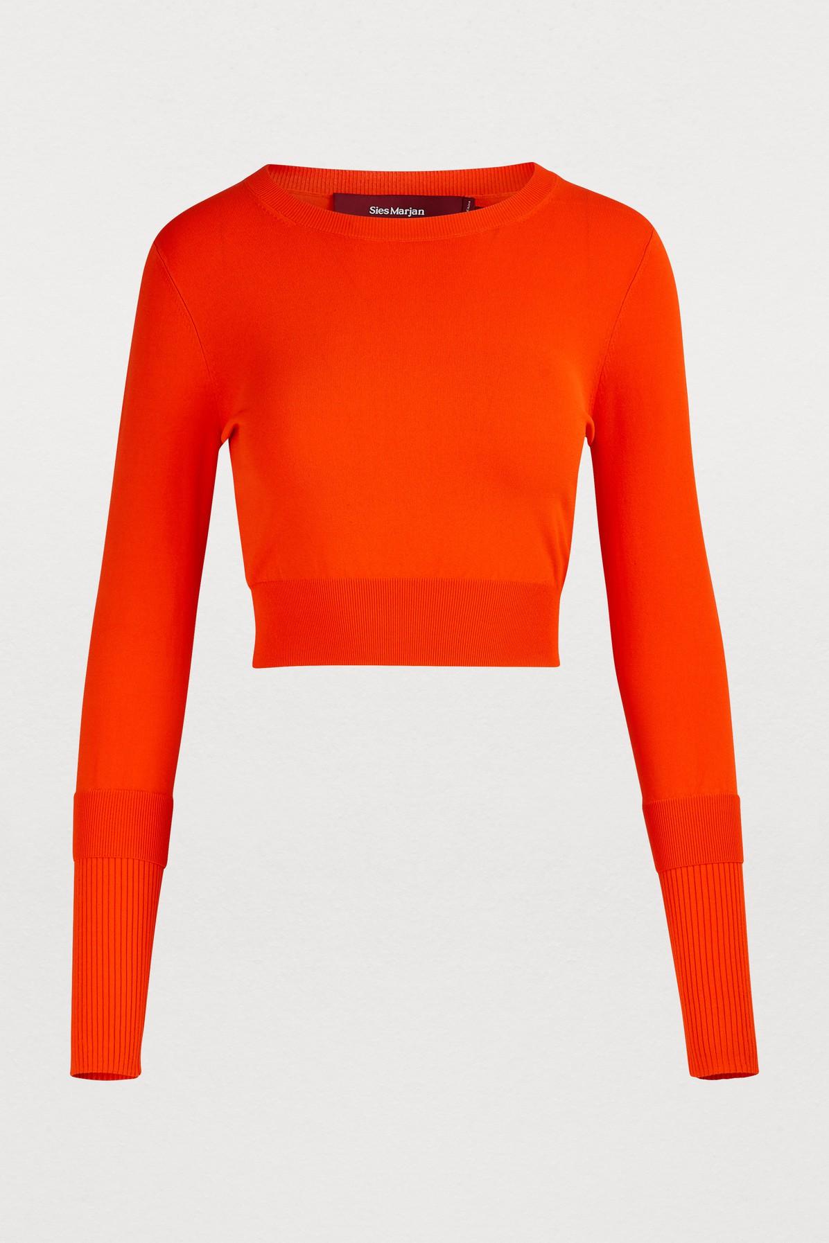 SIES MARJAN | Gwin Short Sweater | Goxip
