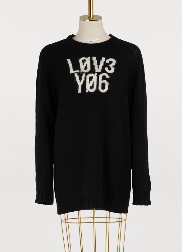 Red ValentinoLove wool sweater