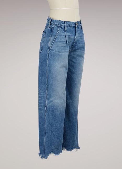 3 X 1Jean coupe plisée