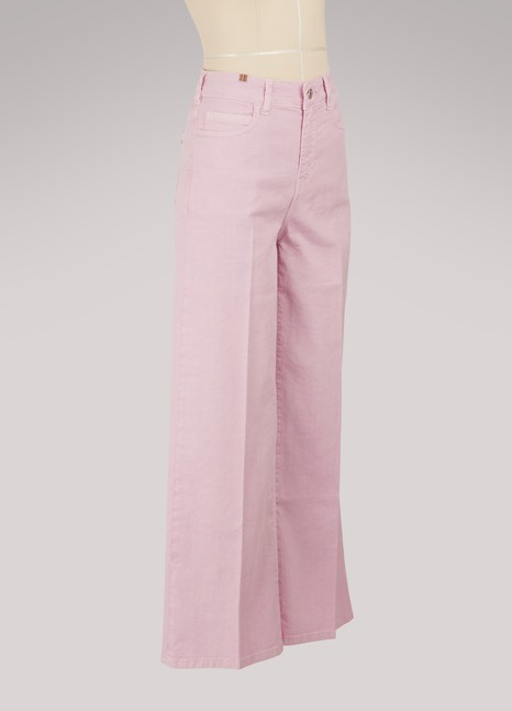 Atelier Notify Silène wide-leg cropped jeans