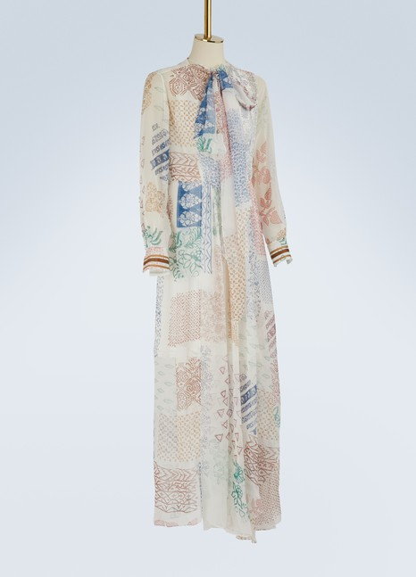 ChloéPrinted silk maxi dress