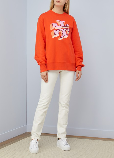 Tory Burch Sweat logo en coton