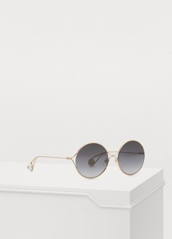 GucciRound-frame metal sunglasses