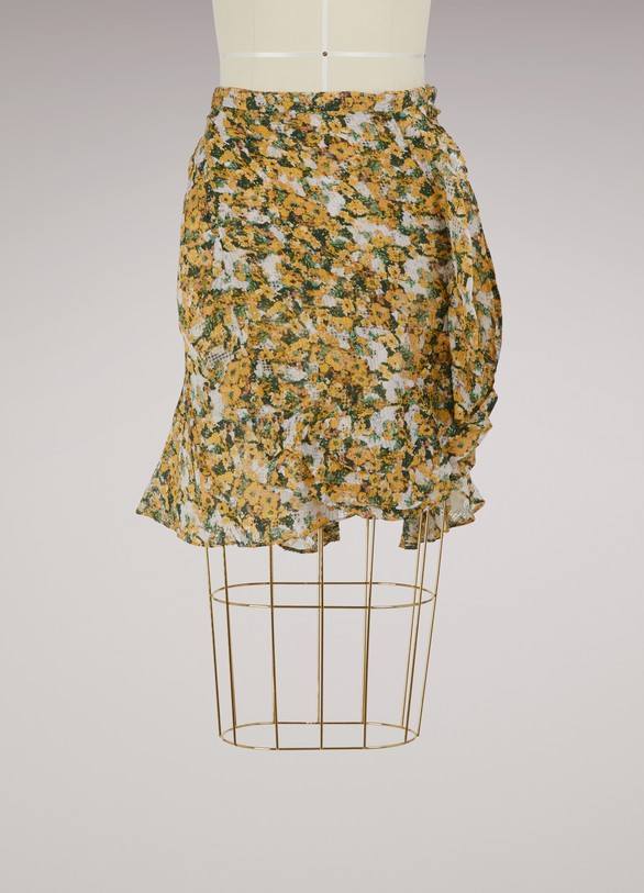 Isabel Marant Ferna silk skirt