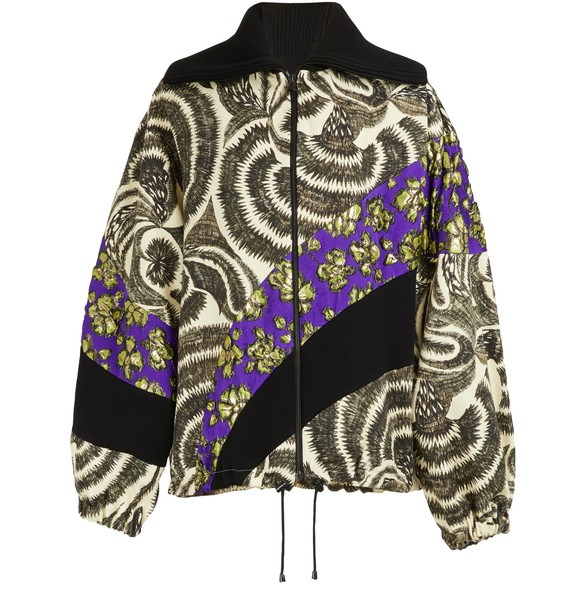 DRIES VAN NOTENPrinted bomber jacket