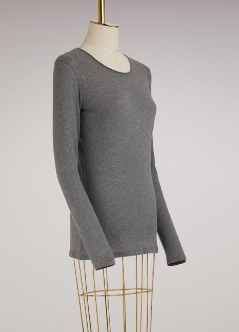 Majestic FilaturesT-shirt en coton et cachemire