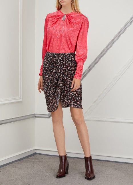 Isabel Marant Silk Livia skirt