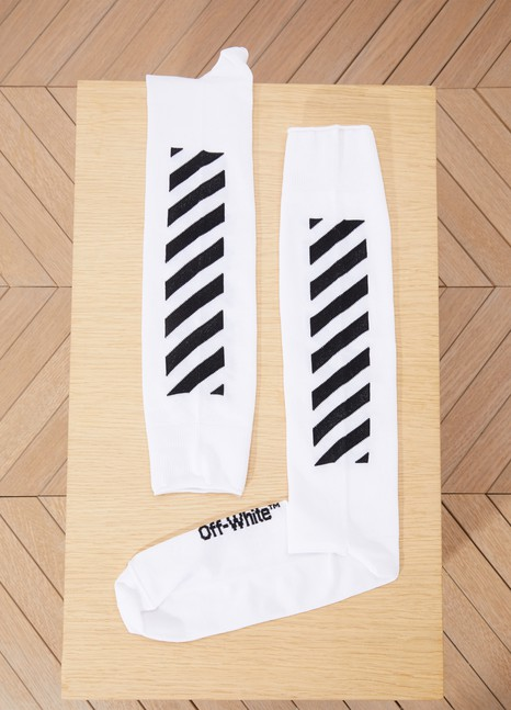 Off White Diag long socks