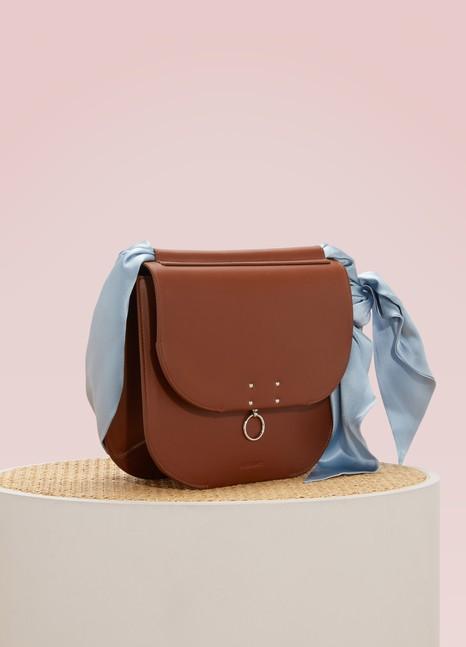 Jil SanderLeather bag with wrap strap
