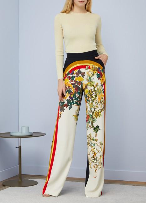 EtroPrinted silk large trouser