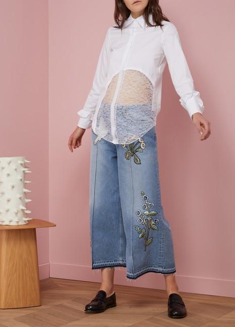 Nina RicciLace Inserts Shirt