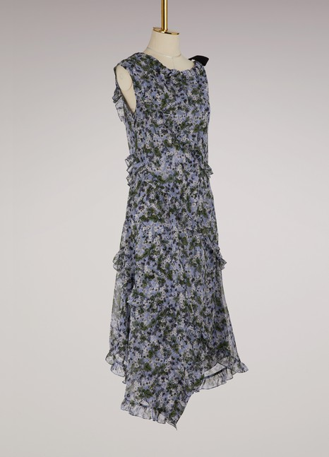 Erdem Zandra long asymmetrical dress