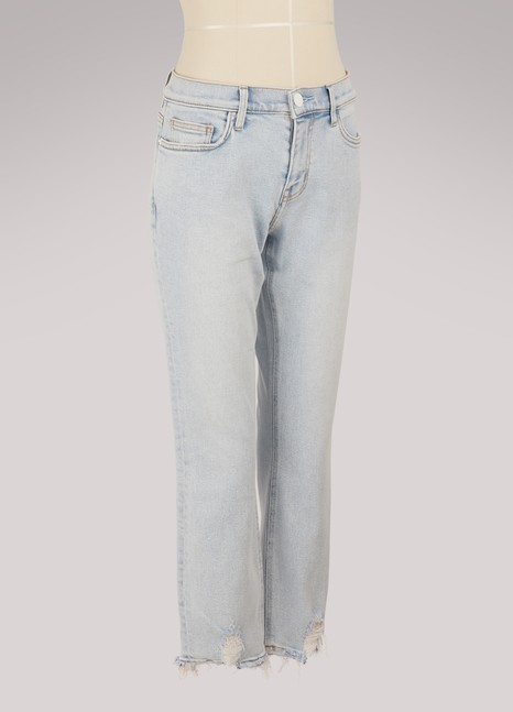 Jean raccourci coupe droite The Cropped StraightCurrent Elliott