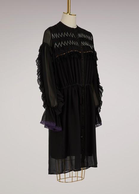 KOCHÉRobe chemise en soie