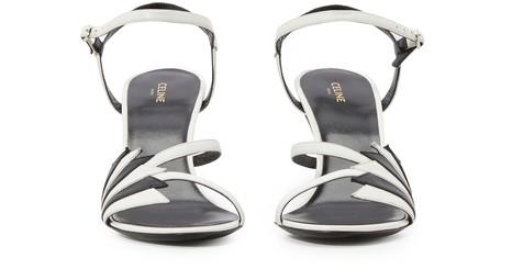 CELINECeline Sharp Flame open toe heels