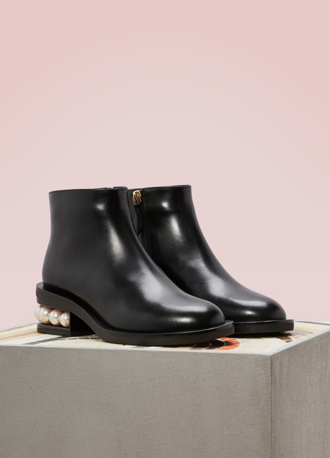 Nicholas Kirkwood Casati Nappa Calfskin Leather Ankle Boots