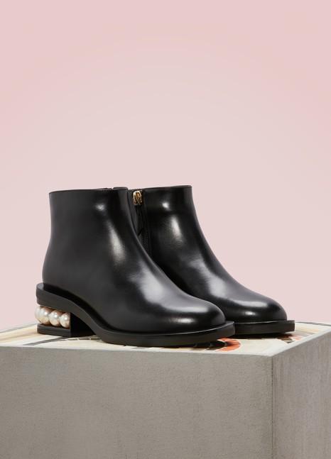 Nicholas Kirkwood Casati Nappa Calfskin Leather Ankle Boots Uqpwvu4