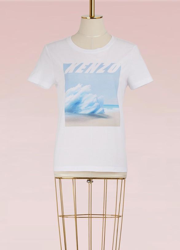 KENZOT-shirt droit paysage