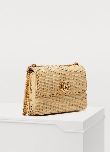 GucciCestino straw shoulder bag