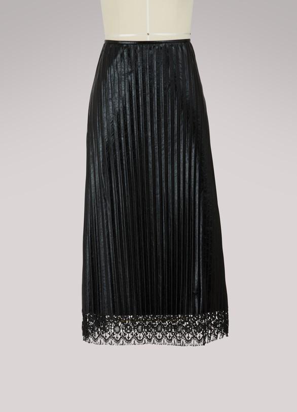 Jil SanderEarly leather skirt