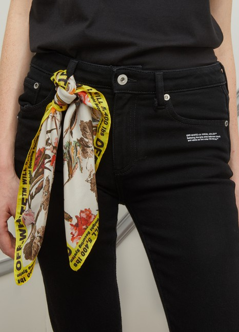 OFF-WHITESkinny jeans with foulard belt