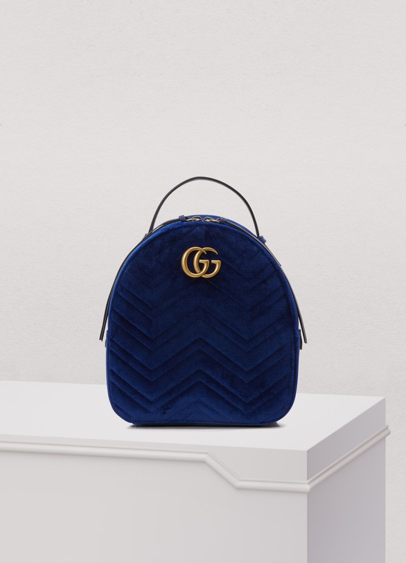 ac20fbf5bb Gucci. Gucci GG Marmont velvet backpack