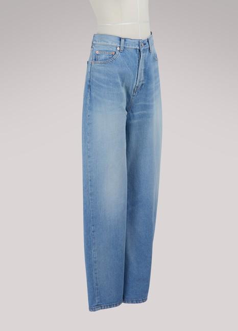 BalenciagaLong denim skirt-pants
