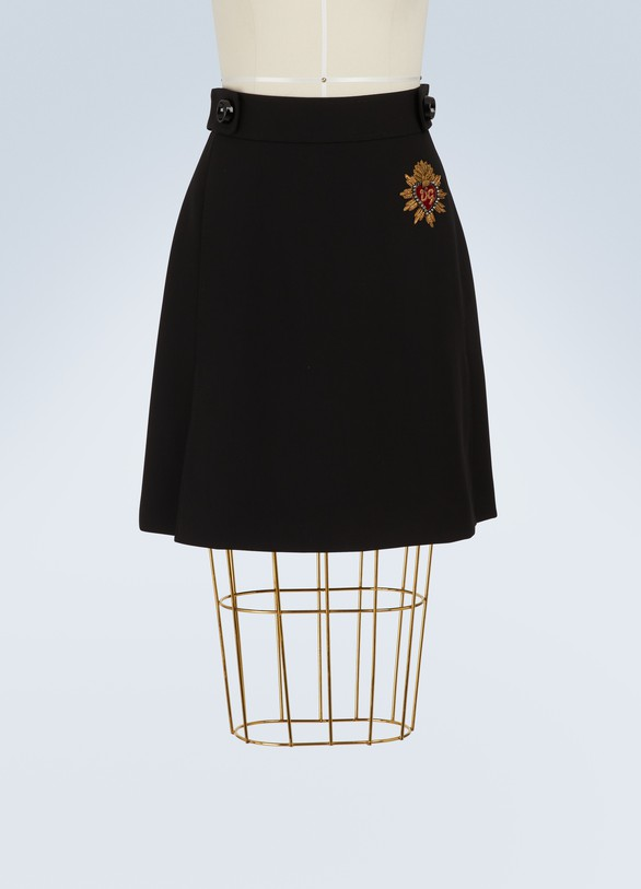 Dolce & Gabbana Heart mini skirt