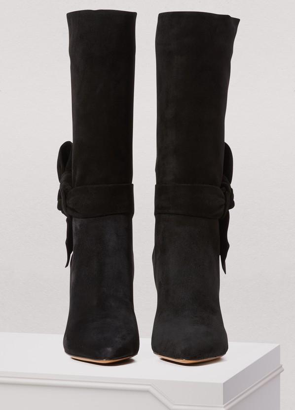 c37c94b4adb81 ... Valentino Valentino Gavarani sueded leather boots ...