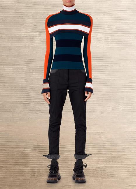 Louis VuittonPull rayé à col montant avec bande