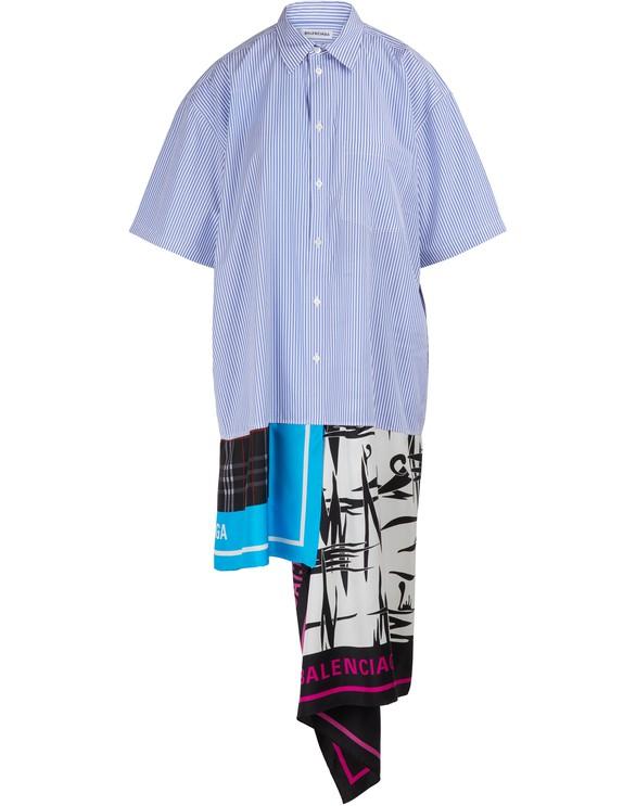 BALENCIAGAHemdkleid mit Schal-Print
