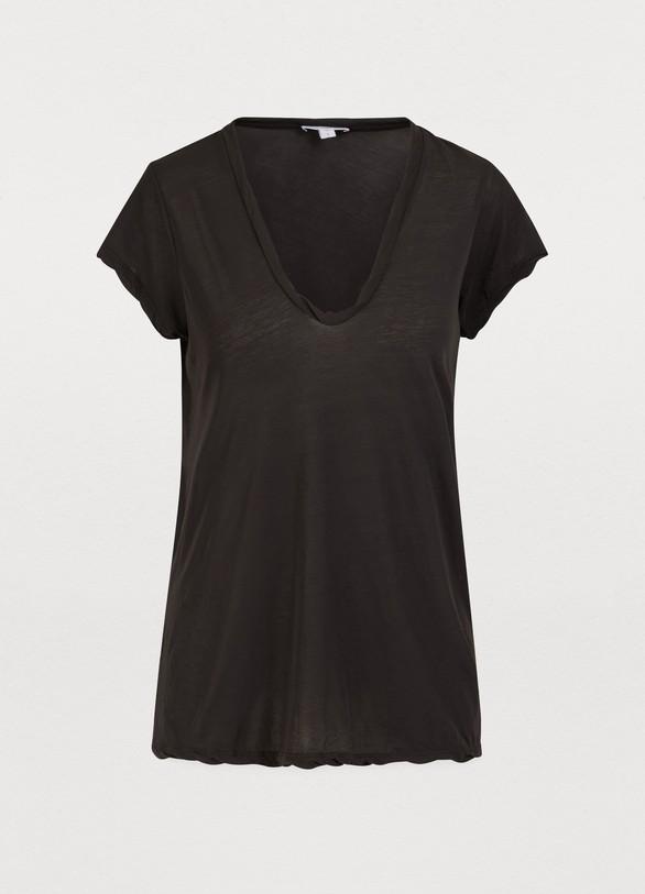 James PerseV-neck cotton T-shirt