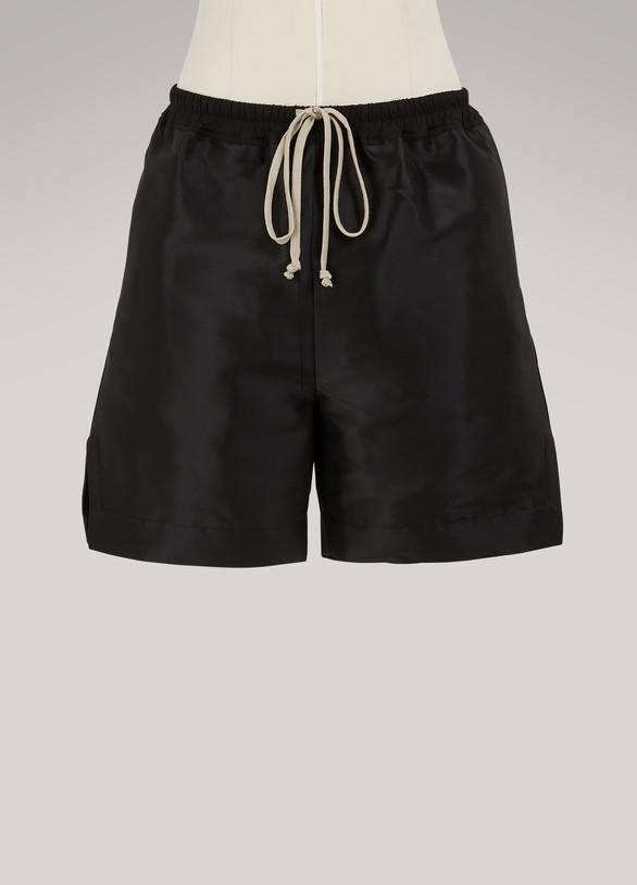 Rick OwensDuchesse silk shorts